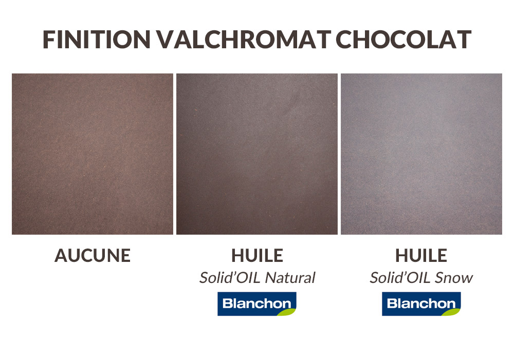 Finition panneau valchromat chocolat marron