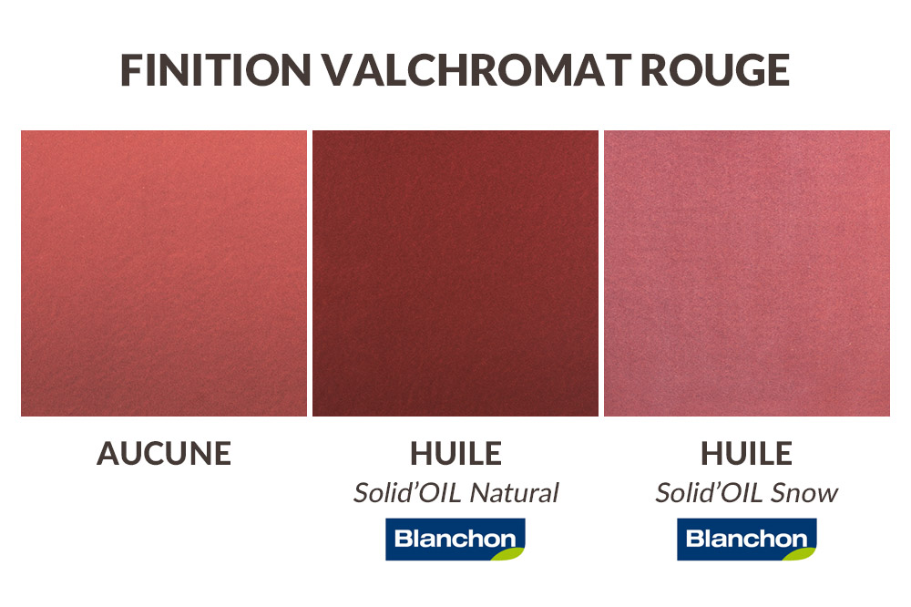 Finition plateau valchromat rouge