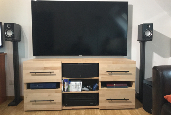faire son meuble tv sur mesure. Black Bedroom Furniture Sets. Home Design Ideas