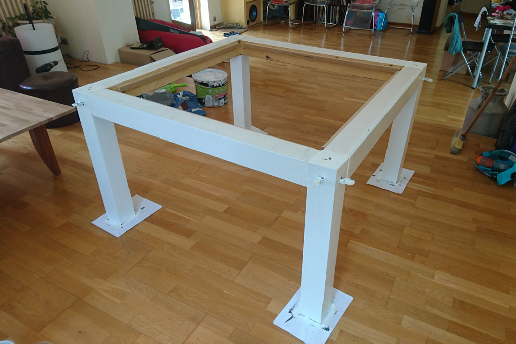 Fabrication d 39 un plateau de table sur mesure en ch ne massif for Table exterieur modulable