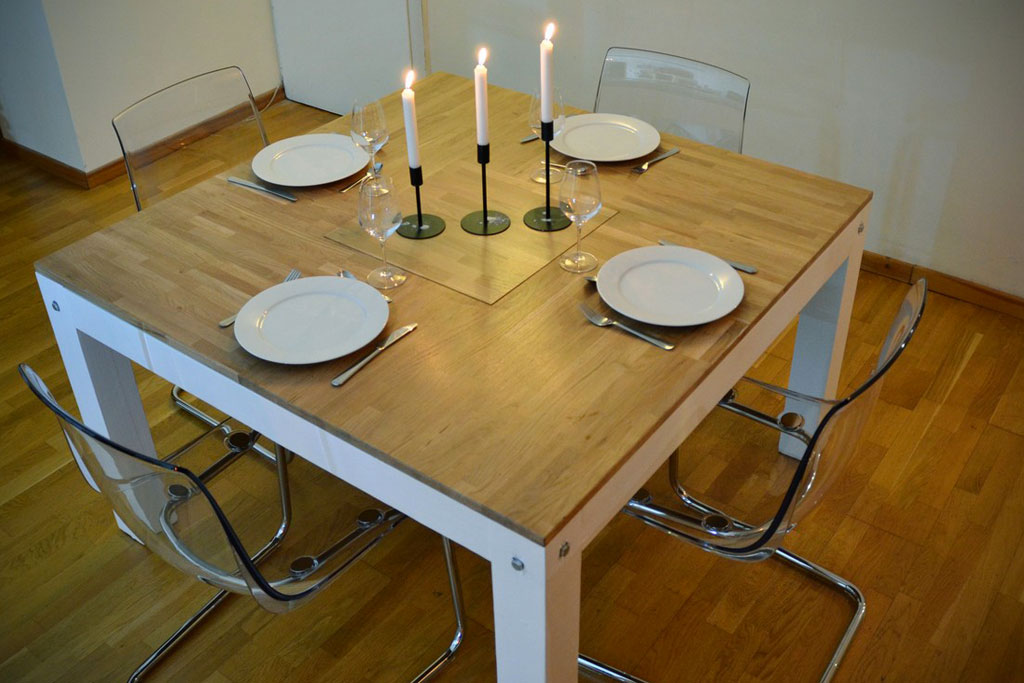 Fabrication d 39 un plateau de table sur mesure en ch ne massif for Plateau table sur mesure