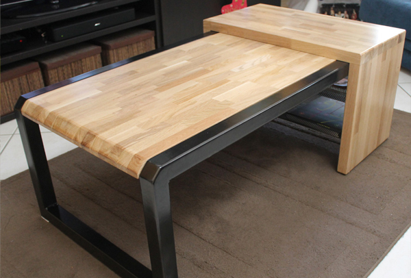 Plan de table basse en bois maison design - Table basse fabrication maison ...